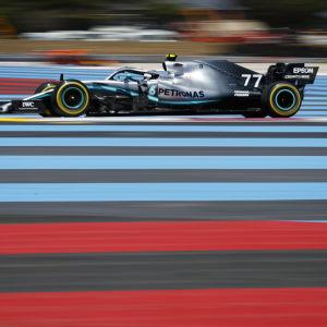 Valtteri Bottas i farten i Frankrike.