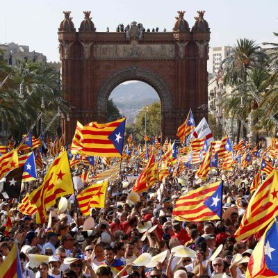 Manifestation i Barcelona 11.9.2017.