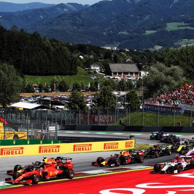 Formel 1-deltävling i Spielberg, Österrike.