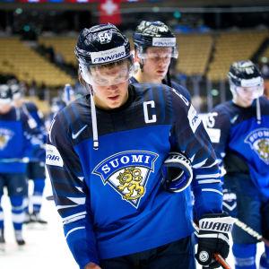 Finland efter kvartsfinalförlusten mot Schweiz.