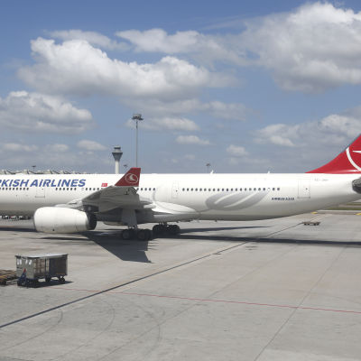 Ett plan från Turkish Airlines
