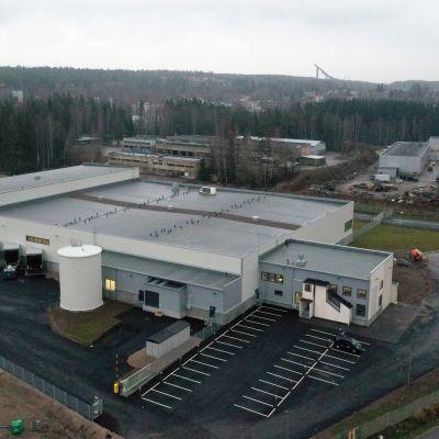 H2O4U Finlandin tehdas ylhäältä päin kuvattuna.