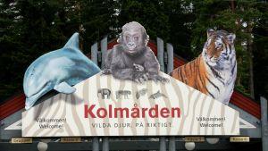 Sisäänkäynti Kolmårdenin eläintarhaan, Ruotsi