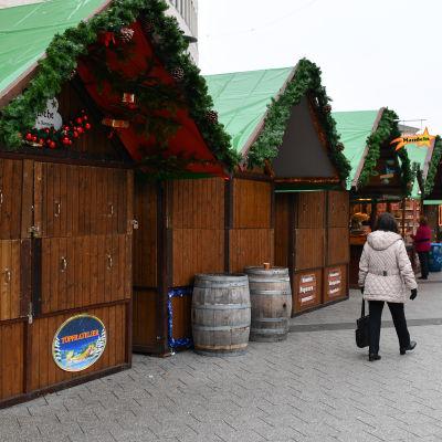 Julmarknaden i Ludwigshafen, Tyskland, fredagen 16.12.2016