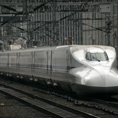 Shinkansen-snabbtåg i Japan.