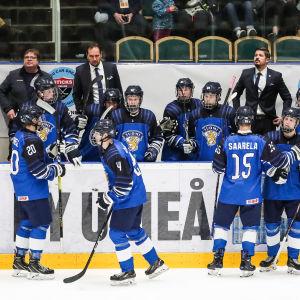 Finlands Smålejon i U18VM 2019.