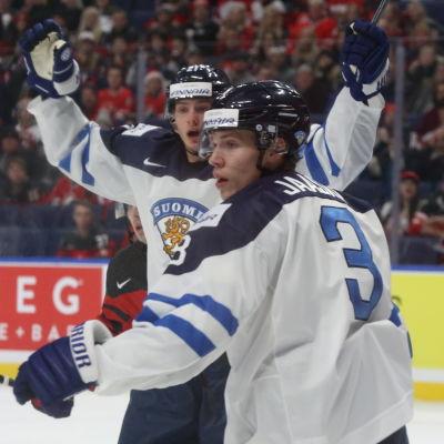 Markus Nurmi och Juha Jääskä trodde att Finland hade reducerat i matchen mot Kanada.