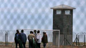 På Robben Island tillbringade Nelson Mandela 18 år.