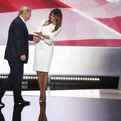 Donald Trump och han hustru Melania Trump, juli 2016.