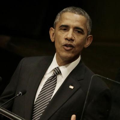 USA:s president Barack Obama talar på FN-toppmötet om hållbar utveckling i New York den 27 september 2015.