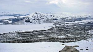 Saanan portaat paljastuvat lumen alta