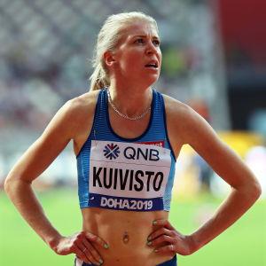 Sara Kuivisto i Doha.