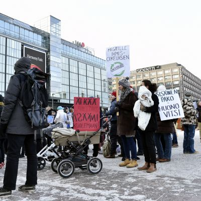 Demonstration på Narinken.