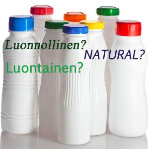 juomapulloja ja teksti luontainen, luonnollinen, natural
