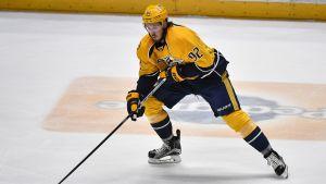 Ryan Johansen på isen.
