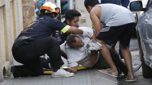 Skadad person efter bombexplosion i Hua Hin, Thailand