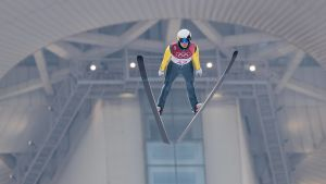 Eero Hirvonen hoppar i OS
