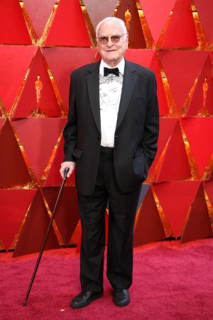 James Ivory på röda mattan inför Oscarsgalan 2018.