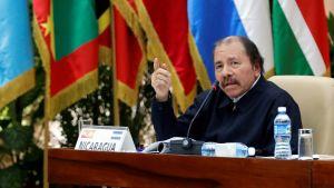 Nicaraguas president Daniel Ortega under ett latinamerikanskt toppmöte i Havanna i december 2018