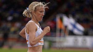 Camilla Richardsson springer i lag-EM i Vasa 2017.