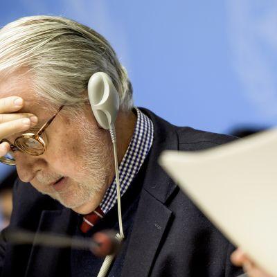 Sergio Pinheiro, ordförande för FN:s oberoende utredningskommission för Syrien.