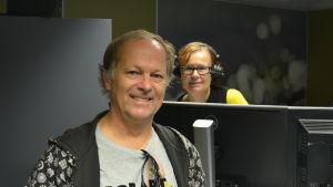 Bror Österlund intervjuas av Nilla Hansson i Åboländsk förmiddag