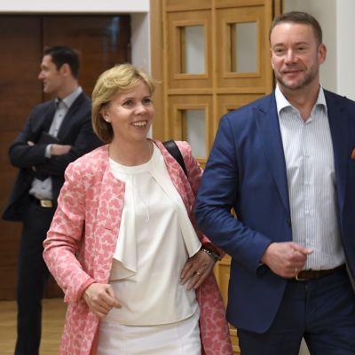 Anna-Maja Henriksson och Stefan Wallin