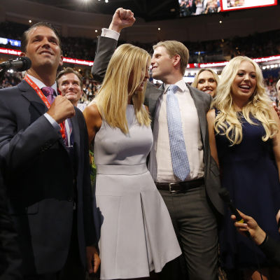 Donald Trumps barn, Donald Jr, Ivanka, Eric och Tiffany.