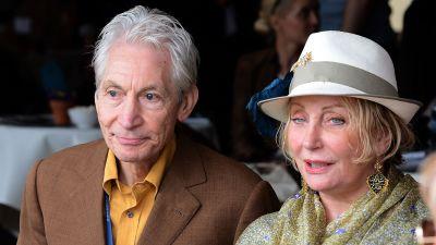 Charlie Watts och hustrun Shirley 2012