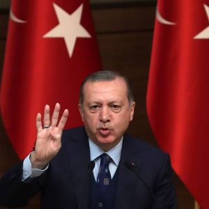 Turkiets president Recep Tayyip Erdoğan höll tal i presidentpalatset i Ankara den 20 december.