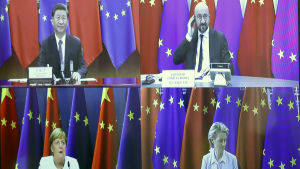 Videomöte med EU-ledare och Kinas president Xi Jinping