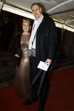 Marko Anttila på väg in till Presidentens slott.