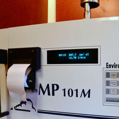 Apparat för mätning av partikelföroreningar i luften