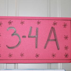Södersundan koulun 3-4 A luokan nimikyltti