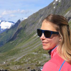 Mikaela Hollsten på Strynefjellet