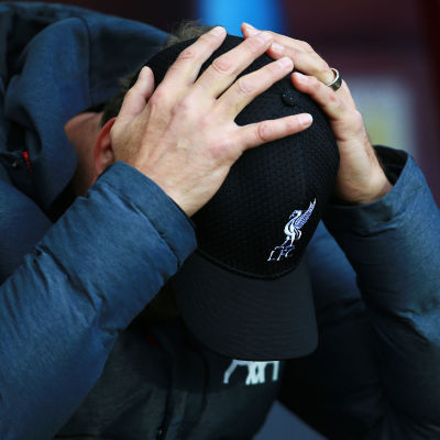 Jürgen Klopp ser frustrerad ut.