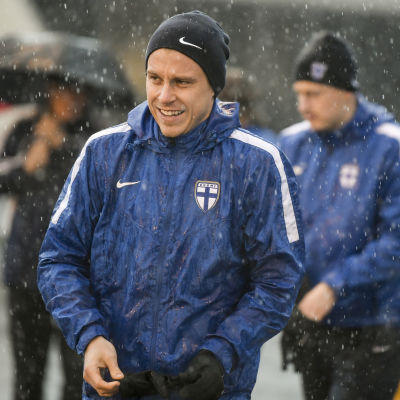 Rasmus Schüller på landslagets träningar hösten 2018.