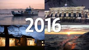 Collage med bilder från Åboland.
