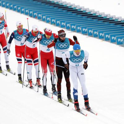 Iivo Niskanen vid vinter-OS i Pyeongchang.