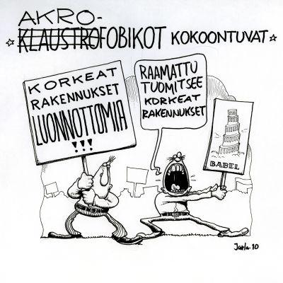 Pentti Jarlan piirros ennakkoluuloista