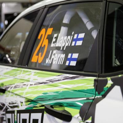 Esapekka Lapin Volkswagen Polo Rovaniemen MM-rallissa 2021.