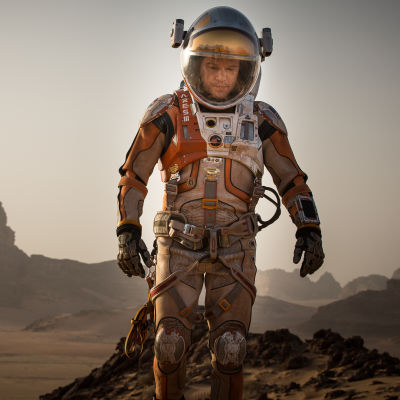 Matt Damon som Mark Watney i The Martian.