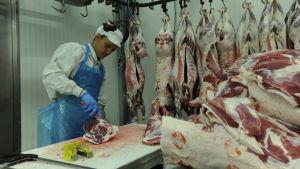 Fredrik Mannström, ny VD på Tajma, styckar kött