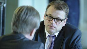 Juha Sipilä i Riksdagen tidigare i veckan