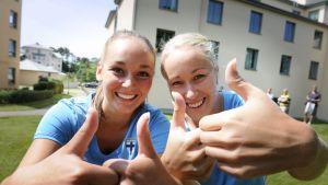 Nora Heroum och Annika Kukkonen taggade.