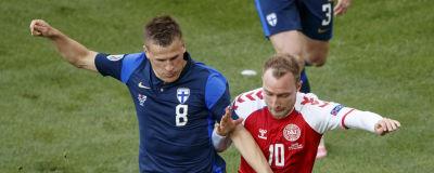 Suomen Robin Lod ja Tanskan Christian Eriksen.
