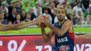 Tony Parker och Frankrike i EM-final i basket 2013.