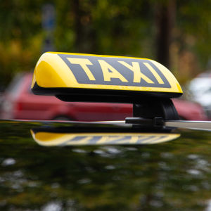 Taxiskylt.