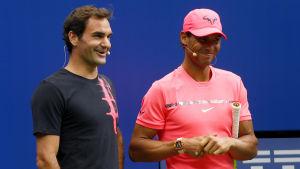 Roger Federer och Rafael Nadal har aldrig mötts i US Open.