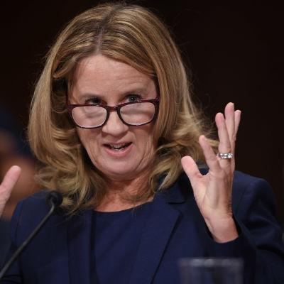 Christine Blasey Ford i senaten.